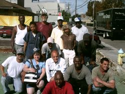 HHH first homeless group photo that raised the funds for the first shelter.