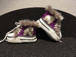 """Babyschuhe """"Eisbaer"""" violett"""