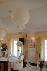 3 foot balloons make a huge impact in large spaces