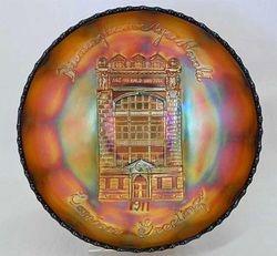 FENTON, Birmingham Age Herald 1911 I/C shape bowl - amethyst