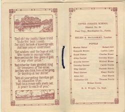 Upper Corner Class List 1927