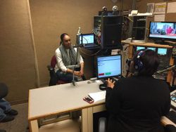 Demetria McKinney visit 88.5FM - February 12, 2015
