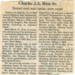 Hess, Charles J. A. Sr. 1993