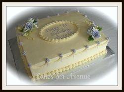 Ivory & Lavender Elegance Cake