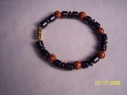 Men's sport magnetic hematite bracelet