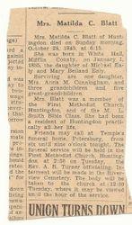 Mrs. Matilda Carolyn (Ealy) Blatt Obituary