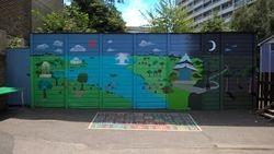 A parkland mural