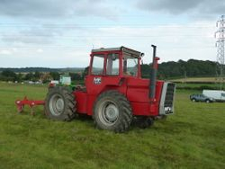 MF1200 tractor & MF24 cultivator