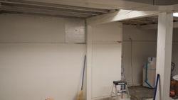 Far end of steel beam work