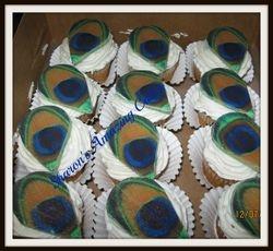 CC35 -Peacock Cupcakes