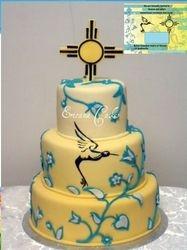 Native Canadian Wedding Cake (W006)