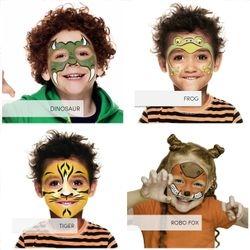 Dino, Frog, Tiger, Robo Fox