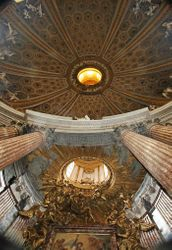 Bernini, S. Andrea, the main dome and the smaller dome over the high altar