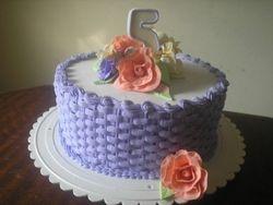 Basket weave cake (B109)