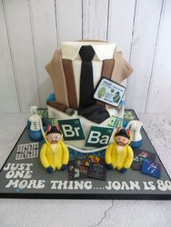 Columbo and Breaking Bad Birthday Cake