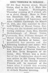 Wilson, Thelma Carbaugh 1949