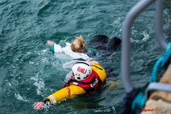 Woman rescued by Wicklow RNLI after she slips in harbour