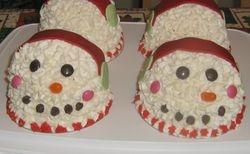 Snowman Mini Dome Cake