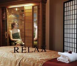 women in sauna