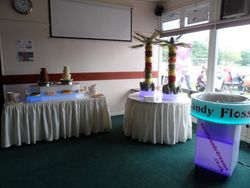 2 x3 Tier Chocolate Fountain, Two Fruit Palm Trees and Candy Floss Machine Hire