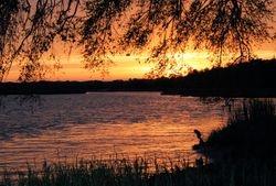 A beautiful sunset on Wallace Creek