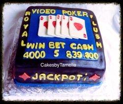 Video Poker  Cake
