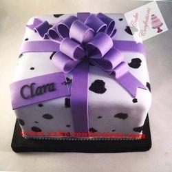 Cheetah Print Gift Box Cake
