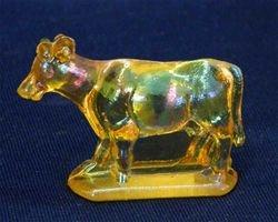 Miniature Cow figurine - marigold