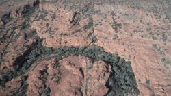 Kings Canyon Range & Gorges from the air.