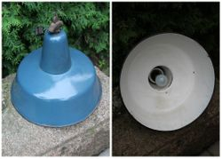 Industrine, loftine metaline emaliuota lempa. Kaina 72