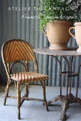 SOLD #24/155 French Wicker Bistro Chairs 2 SOLD
