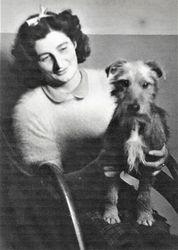 Miss Brack & Chips the dog (1947)