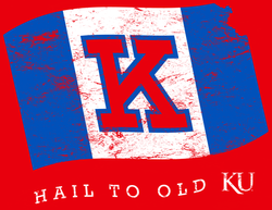 Hail to old KU Gameday Flag - '47 T-Shirt Graphic