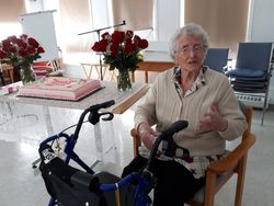 Agnes turns 100 just before her Savior calls her home