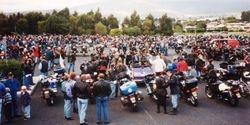 Forming up for the parade at 1996 AGM Hobart - Mar 1996