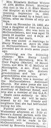 Watson, Elizabeth Heffner 1941