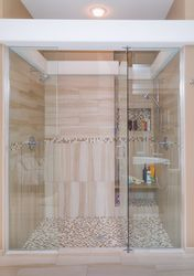 Walk in Shower with Glass Door