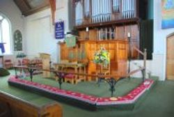 The Communion Rail and Organ and Pulpit