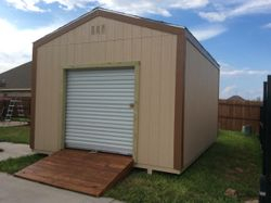12'x16'x10 with a roll-up door