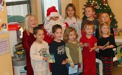 Our group with Santa 2008
