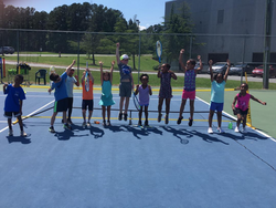 Jumping up for 8 and under tennis - Hooray!