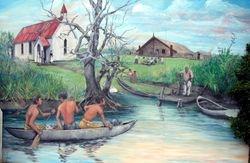 Matakarapa marae mural - Tony Matthews