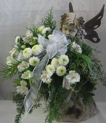 Keepsake sympathy tribute (girl angel)