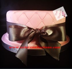 Pink Quilted Design Cake
