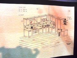 disegno prospetto cucina a mano libera