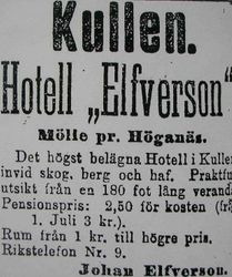 Hotell Elfverson 1908