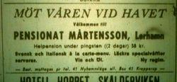 Pensionat Martensson 1955