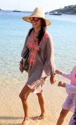Alessandra Amrbossio on trip sunny kaftan beach style