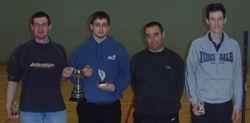 Handicap Tournament Mens Doubles Winners & Runners Up