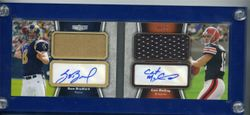 Sam Bradford/Colt McCoy 2010 Topps Unrivaled Rookie Dual Auto Autograph Jersey #8/10